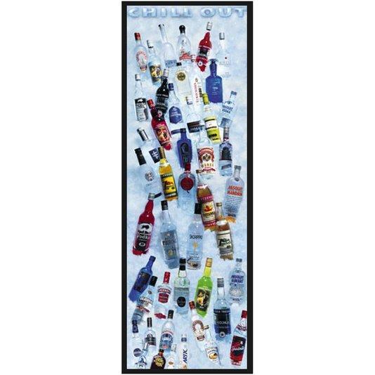 Quadro Decorativo Poster Chill Out Bebidas Destiladas 55x160cm