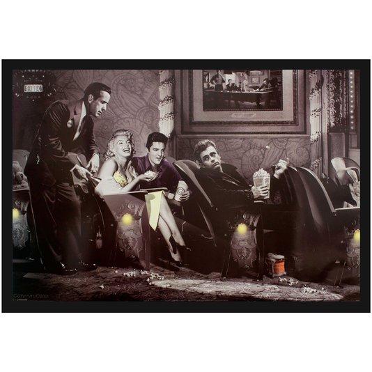 Quadro Decorativo Poster Classic Interlude por Chris Consani s/ Vidro 90x60cm
