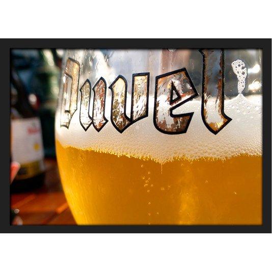 Quadro Poster Decor com Moldura Beer Duvel com Vidro 30x20 cm