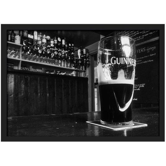 Quadro Imagem com Moldura Beer Guinness com Vidro 30x20 cm