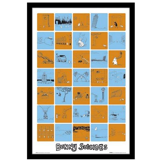 Quadro Decorativo Poster com Moldura Bunny Suicides 60x90cm