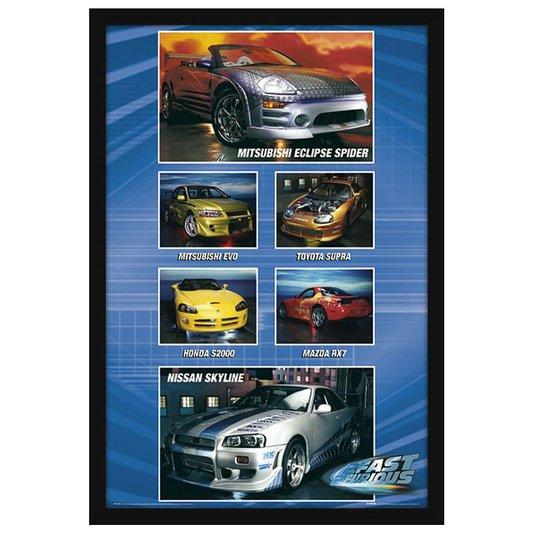 Quadro Decorativo Poster com Moldura Carros Velozes e Furiosos 60x90cm
