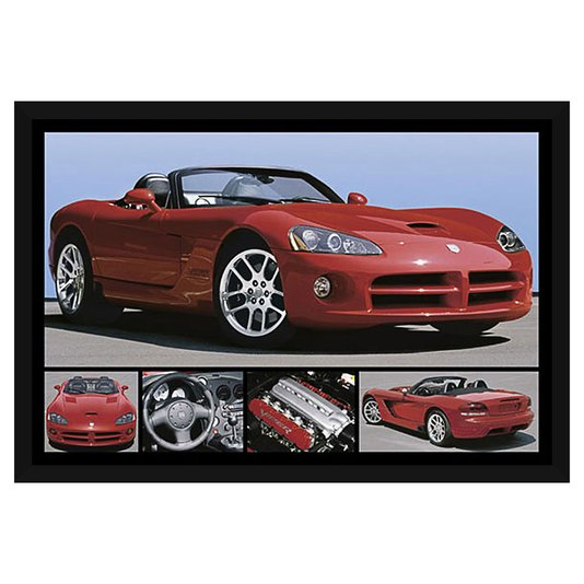 Quadro Decorativo Poster com Moldura Dodge Viper Vermelho 94x64cm