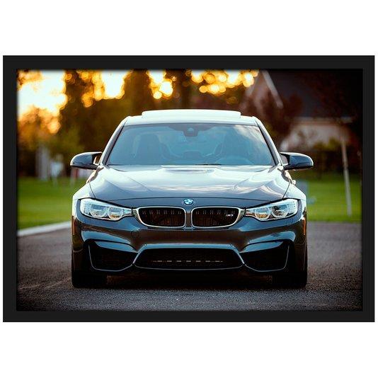 Quadro Poster com Moldura e Vidro BMW M3 Frente - 30x20 cm