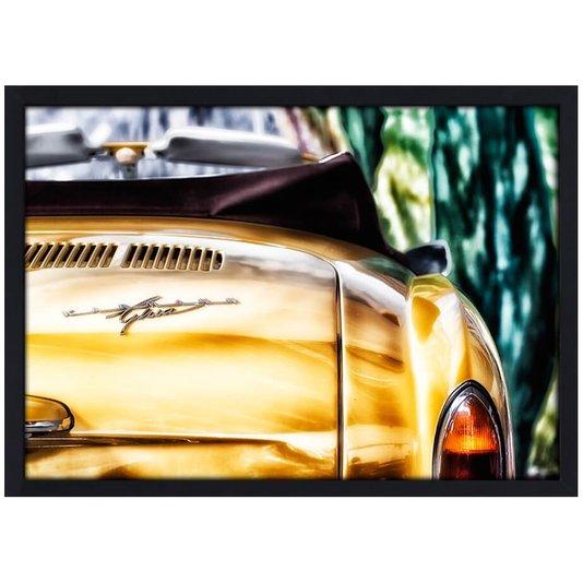 Quadro Poster com Moldura e Vidro Carro Clássico Karmann Ghia 30x20 cm