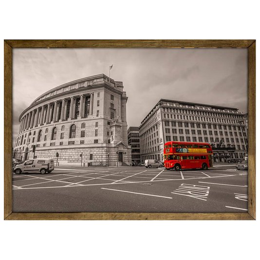 Quadro Decorativo Poster com Moldura e Vidro Londres Red Bus 33x24cm