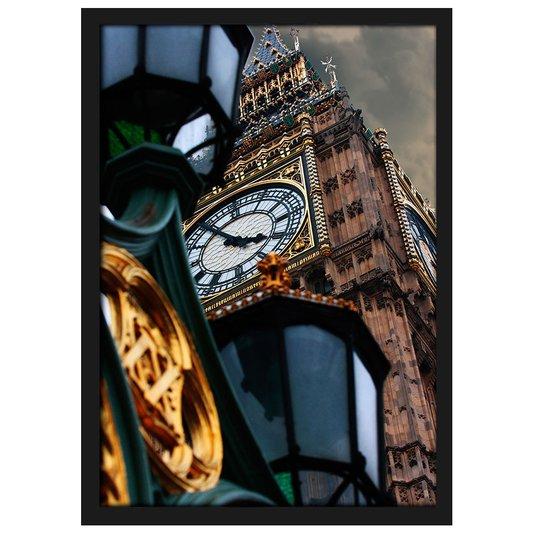 Quadro Moldura e Vidro Londres Torre do Relógio Big Ben 20x30 cm