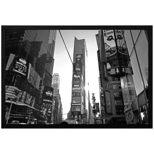Quadro Decorativo com Moldura e Vidro Times Square New York 90x60cm