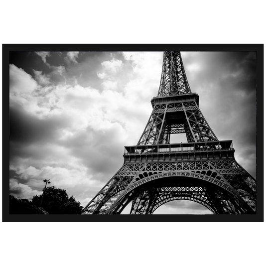 Quadro Decorativo com Moldura e Vidro Torre Eiffel Paris 90x60cm