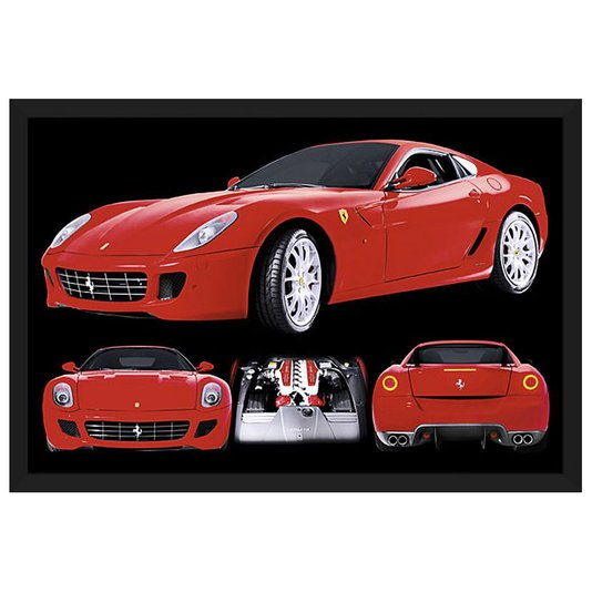 Quadro Decorativo Poster com Moldura Ferrari 599 GTB Fiorano 94x64cm