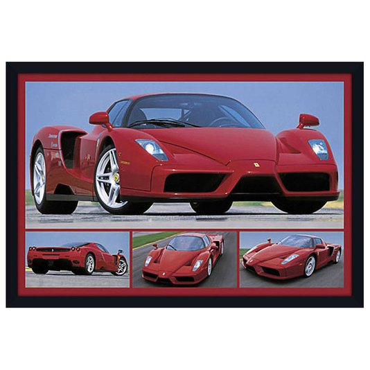 Quadro Decorativo Poster com Moldura Ferrari Enzo 94x64cm