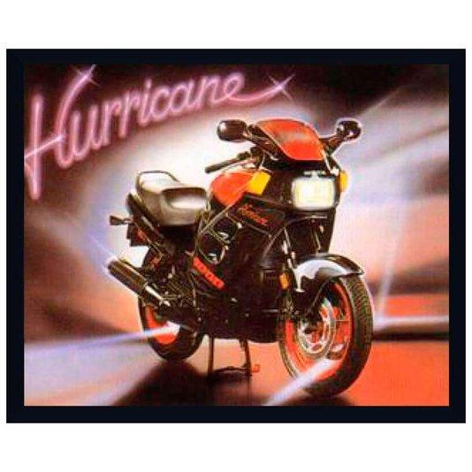 Quadro Decorativo Poster com Moldura Moto Esportiva Hurricane 50x40cm