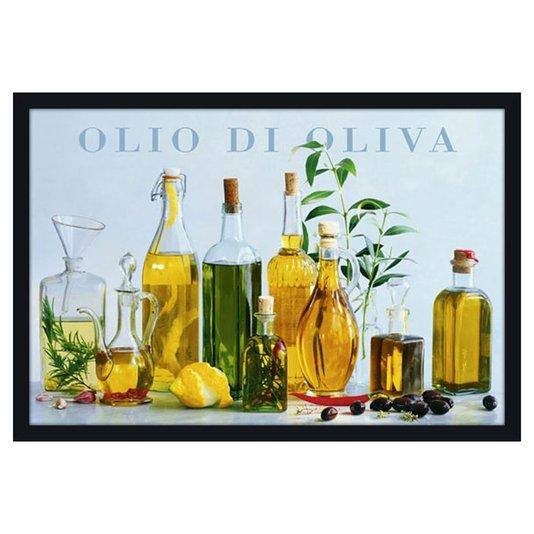 Quadro Poster Decorativo com Moldura Olio Di Oliva 94x64cm