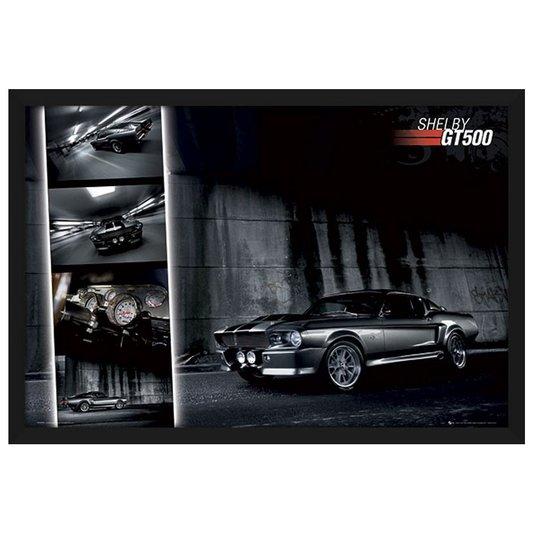 Quadro Decorativo Poster com Moldura Shelby Gt500 94x64cm