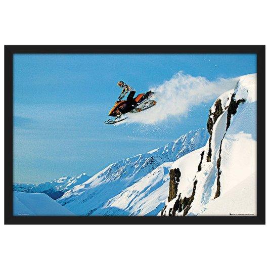Quadro Decorativo Poster com Moldura Snowmobile 94x64cm