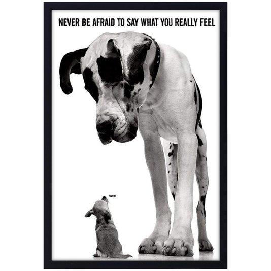 Quadro Decorativo Poster Dogs Pequeno e Grande s/ Vidro 60x90cm