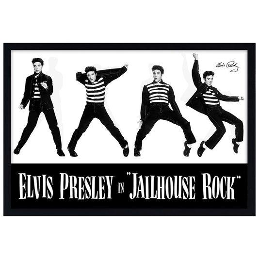 Quadro Decorativo Poster Elvis Presley in Jailhouse Rock s/ Vidro 90x60cm