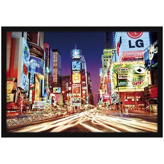 Quadro Decorativo Poster Emoldurado s/ Vidro Times Square 90x60cm