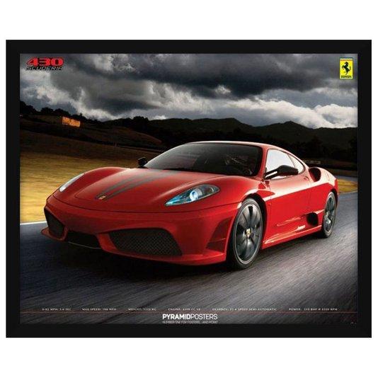 Quadro Decorativo Poster Ferrari 430 Scuderia s/ Vidro 50x40cm