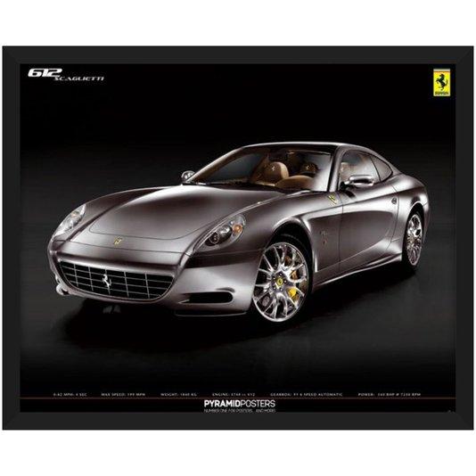 Quadro Decorativo Poster Ferrari 612 Scaglietti s/ Vidro 50x40cm