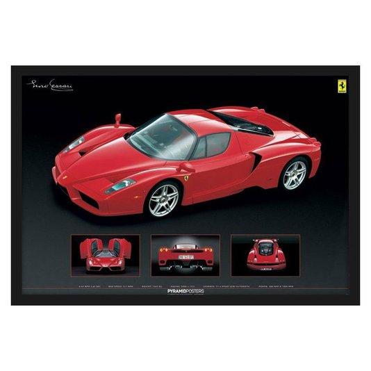 Quadro Decorativo Poster Ferrari Enzo s/ Vidro 90x60cm