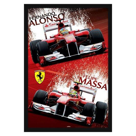 Quadro Decorativo Poster Ferrari F1 s/ Vidro 60x90cm