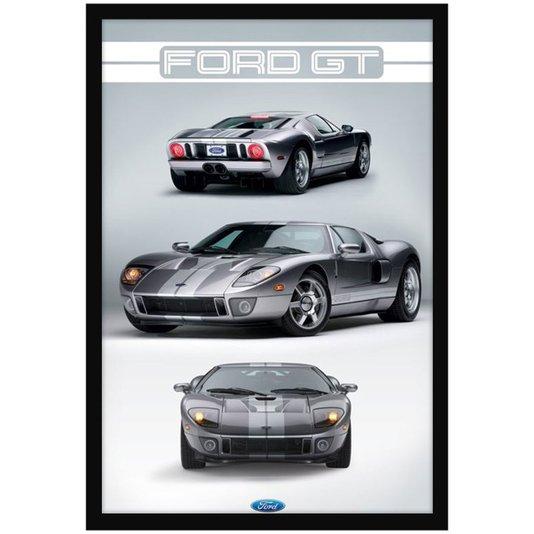 Quadro Decorativo Poster Ford GT s/ Vidro 60x90cm