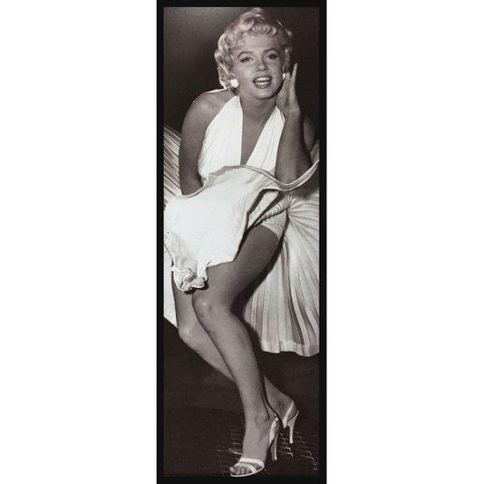 Quadro Decorativo Poster Marilyn Monroe e seu Vestido Voando s/ Vidro 55x160cm