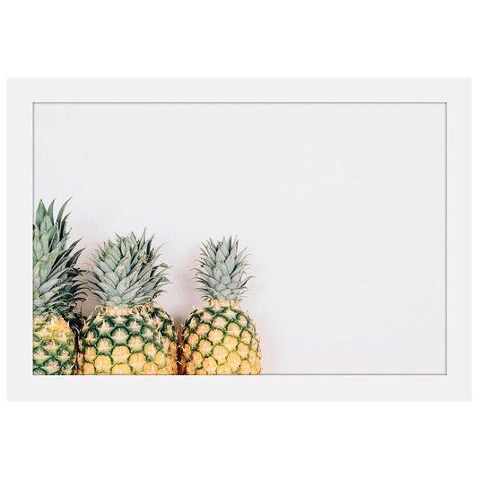 Quadro Decorativo Imagem Minimalista Fruta Abacaxi 30x20cm