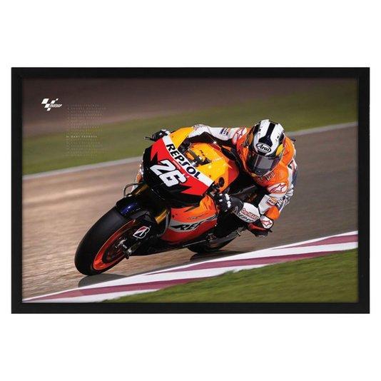 Quadro Decorativo Poster Moto GP s/ Vidro 94x64cm