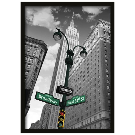 Quadro Decorativo Poster Nova York Street Signs s/ Vidro 60x90cm