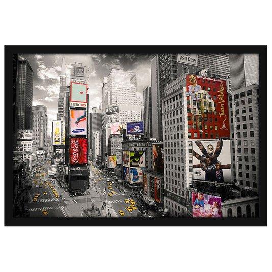Quadro Decorativo Poster Nova York Times Square s/ Vidro 140x100cm