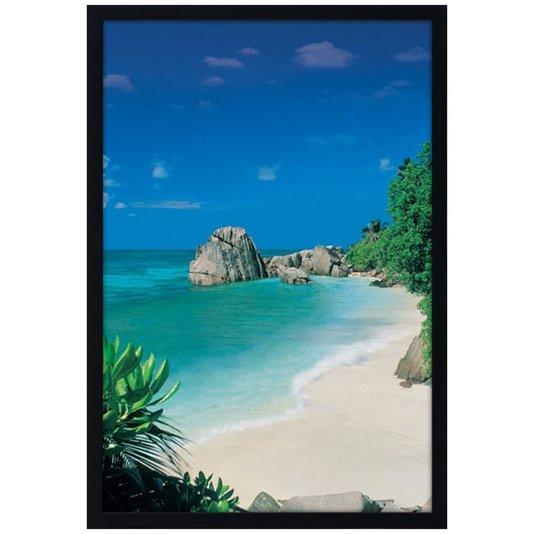 Quadro Decorativo Poster Paraíso Praia Deserta s/ Vidro 60x90cm