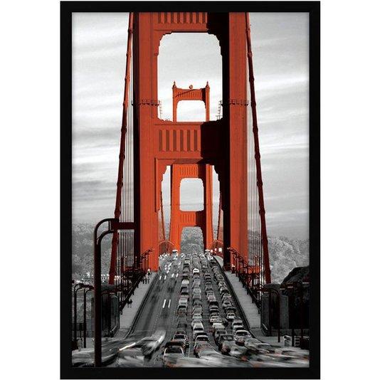 Quadro Decorativo Poster Ponte Golden Gate em San Francisco s/ Vidro 60x90cm