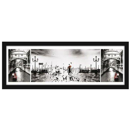 Quadro Decorativo Poster Veneza Ponte dos Suspiros (Ponte Del Sospiri) s/ Vidro 90x30cm