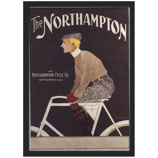 Quadro Decorativo Poster Vintage The Northampton com Vidro 20x30 cm