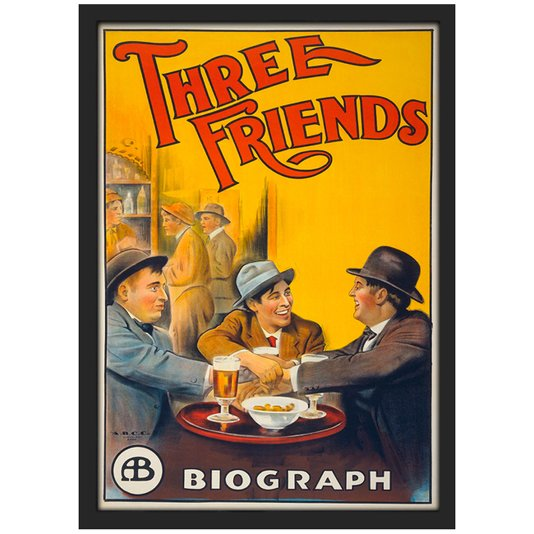Quadro Poster Vintage Three Friends com Vidro 20x30 cm