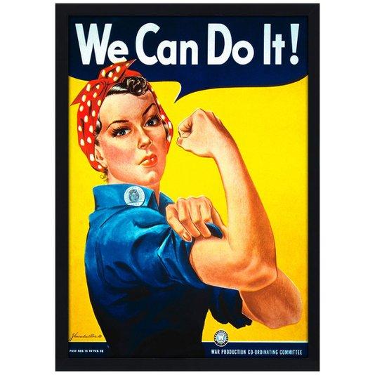 Quadro Poster Vintage We Can Do It! com Vidro 20x30 cm
