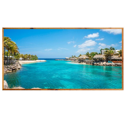 Quadro Decorativo Praia Ilhas ABC Costa Venezuelana 200x100cm