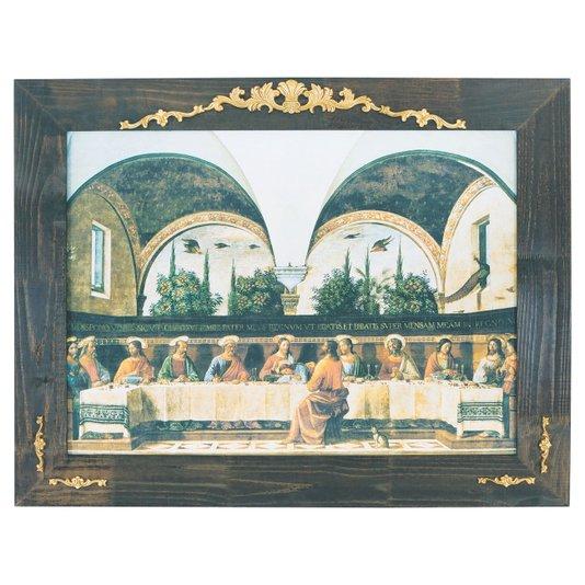 Quadro Decorativo Religioso A Última Ceia de Domenico Ghirlandaio 120x100cm