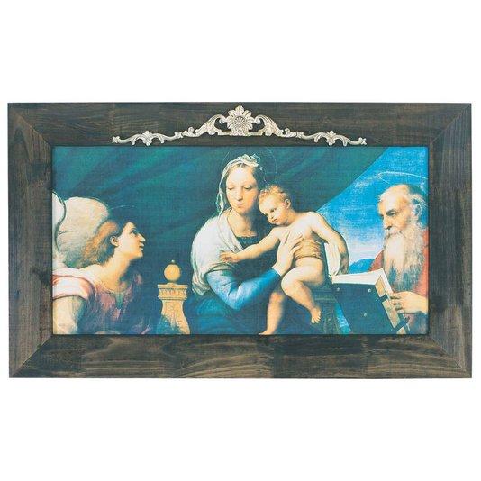 Quadro Religioso Madonna Del Pesce de Raphael Sanzio 120x70 Cm