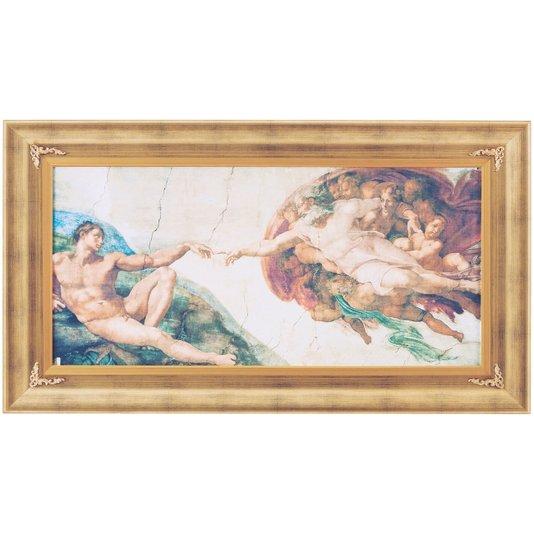 Quadro Decorativo Religioso Obra de Arte Criação de Adão 120x70cm