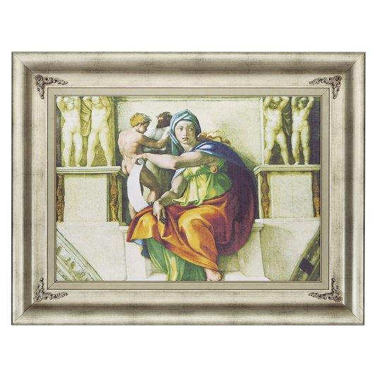 Quadro Decorativo Religioso Obra de Arte Sibila Delfica de Michelangelo 90x70cm