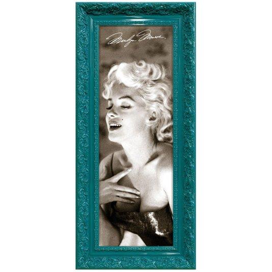 Quadro Decorativo Retrô Marilyn Monroe em Preto e Branco 50x110cm