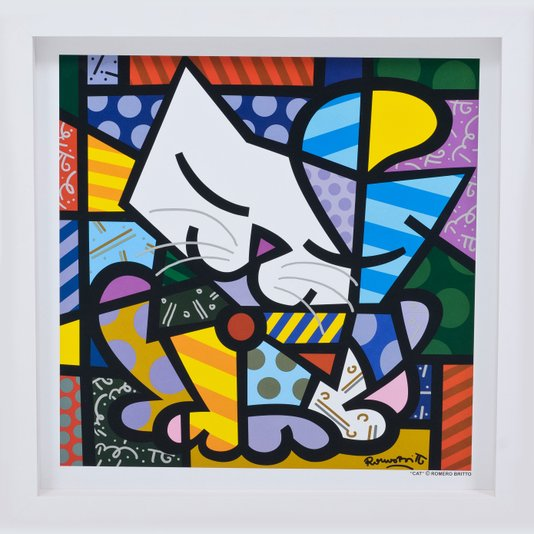 Quadro Decorativo Romero Britto Cat 35x35cm
