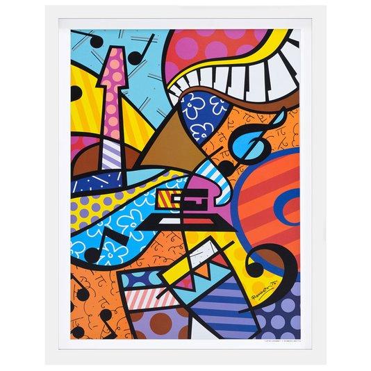 Quadro Decorativo Romero Britto Latin Grammy 50x65cm