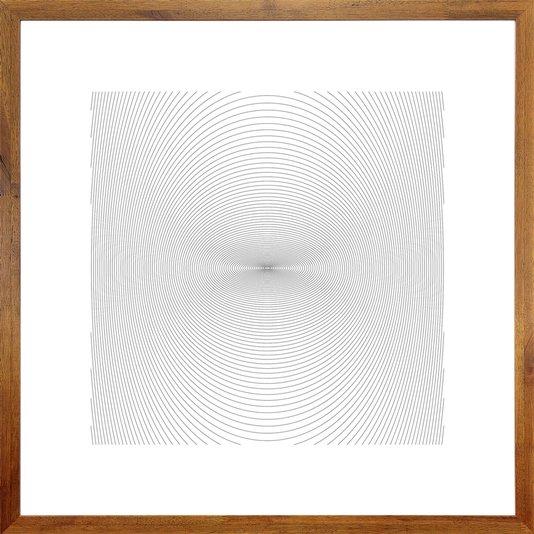 Quadro Decorativo Rústico Arte Desenho a Lápis 70x70 cm