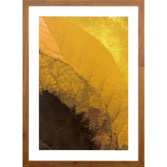 Quadro Decorativo Rústico Arte Floral em Tons Amarelos 50x70 Cm