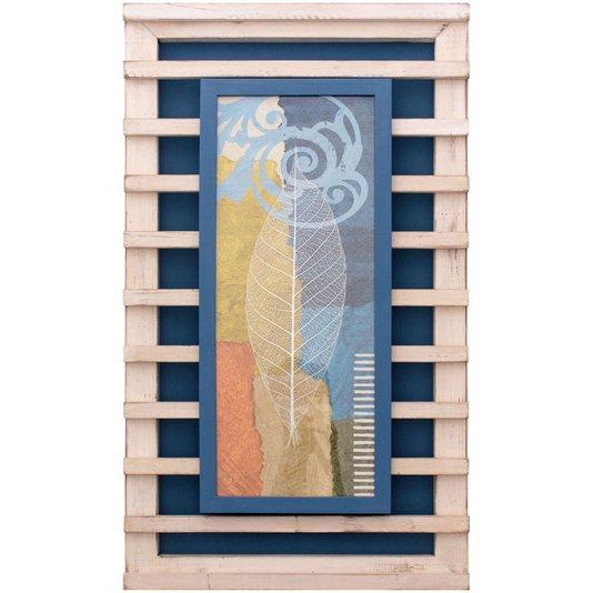 Quadro Decorativo Rústico Folha Minimalista Arte de Michael Marcon II - 40x70cm
