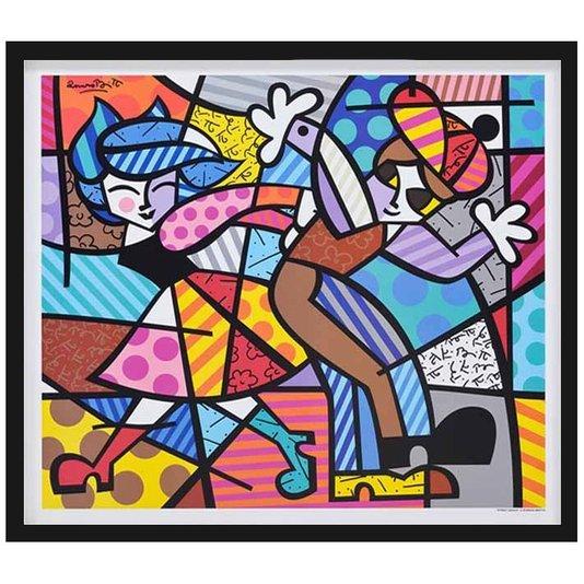 Quadro Decorativo Street Dance de Romero Britto 80x70cm
